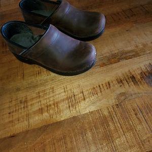 Dansko Brown Oiled Clogs